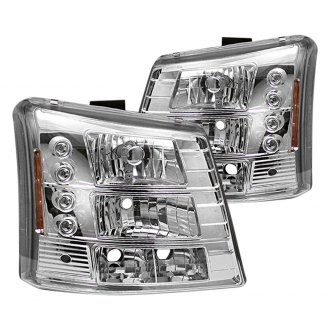 Spyder® - Chrome Conversion Euro Headlights with LEDs