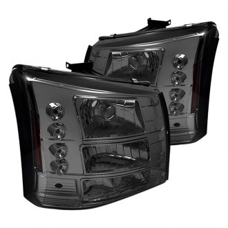 Spyder® - Chrome/Smoke Conversion Euro Headlights with LED DRL