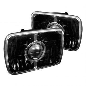 "Spyder® - 7x6"" Rectangular Black Projector Headlights"
