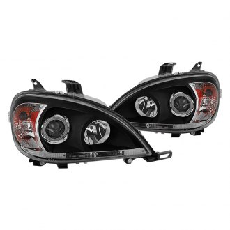 Spyder® - Black Projector Headlights with Amber Reflectors