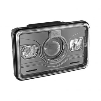 "Spyder® - 4x6"" Rectangular Black LED Projector Headlight Off-Road Use Only"