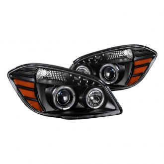 Spyder® PRO-JH-CCOB05-LED-BK - Black Halo Projector Headlights with Parking LEDs