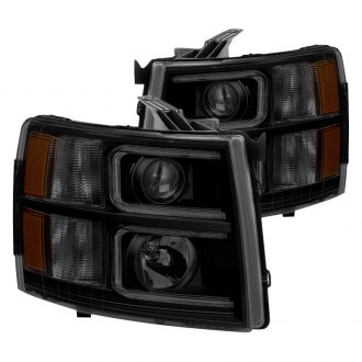 Spyder® - Black/Smoke U-Bar Projector LED Headlights