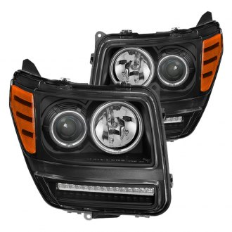 2007 dodge nitro custom factory headlights carid com spyder® black ccfl halo projector headlights led signal lights
