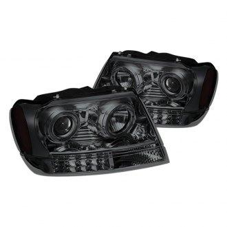 2002 jeep grand cherokee custom factory headlights. Black Bedroom Furniture Sets. Home Design Ideas