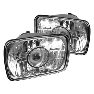 "Spyder® - 4x6"" Rectangular Chrome Projector Headlights Off-Road Use Only"