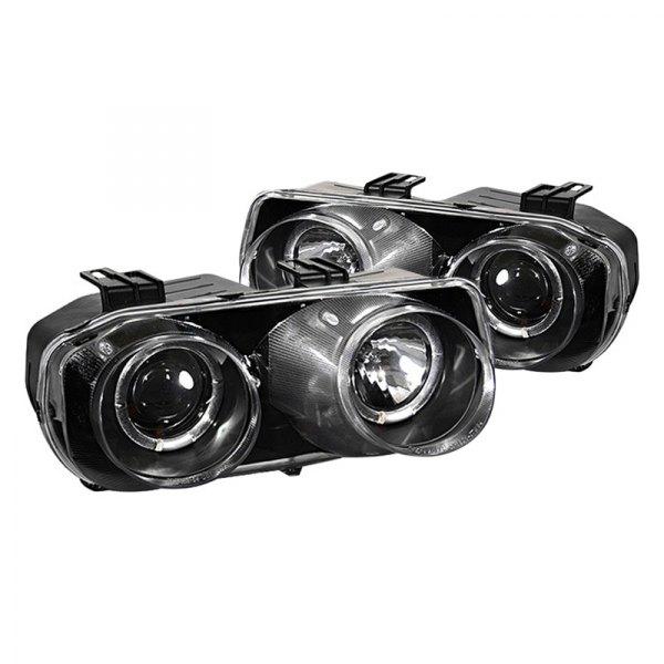 Acura Integra 1994-1997 Black Halo Projector LED