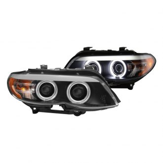 Spyder® - Black CCFL Dual Halo Projector LED Headlights