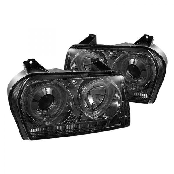 spyder chrysler 300 with factory halogen headlights. Black Bedroom Furniture Sets. Home Design Ideas