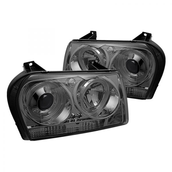 Spyder® - Chrome/Smoke Halo Projector LED Headlights