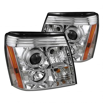 Spyder® - Chrome Halo Projector LED Headlights with DRL