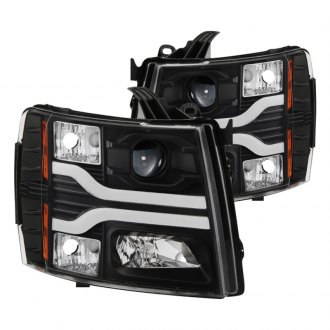 Spyder® - Black DRL Bar Projector LED Headlights