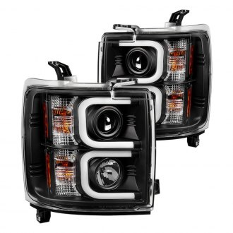 Spyder® - Black LED U-Bar Projector Headlights