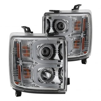 Spyder® - Chrome LED U-Bar Projector Headlights