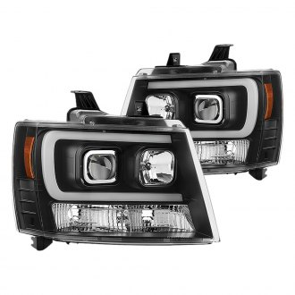 Spyder® - Black Projector U-Bar Headlights