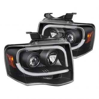 Spyder® - Black U-Bar Projector LED Headlights
