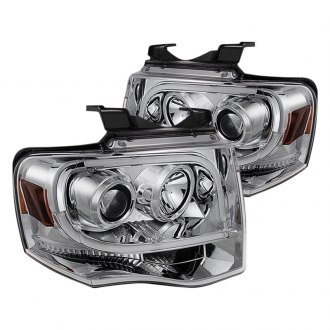 Spyder® - Chrome U-Bar Projector LED Headlights