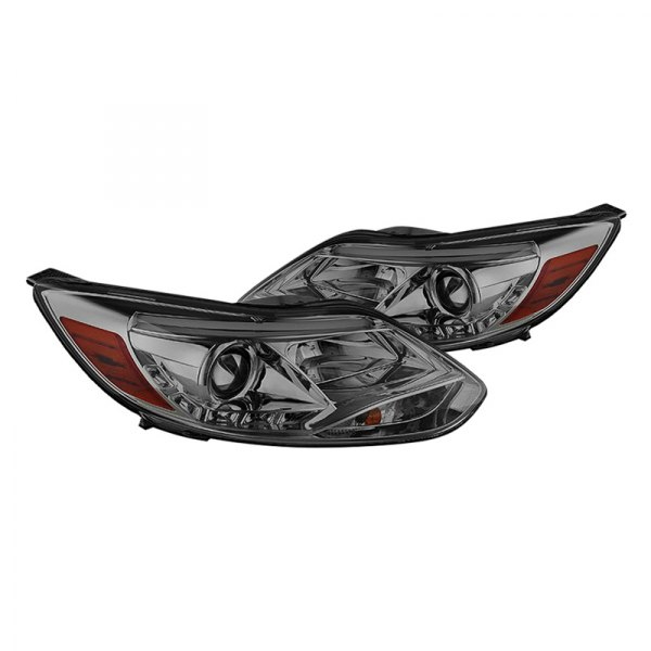Spyder® - Chrome/Smoke Projector LED Headlights with DRL