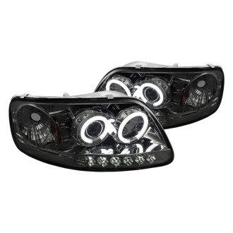 Spyder® - Chrome/Smoke CCFL Halo Projector LED Headlights