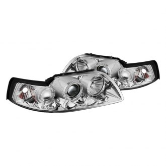 Spyder® - Chrome Halo Projector LED Headlights with Amber Reflectors