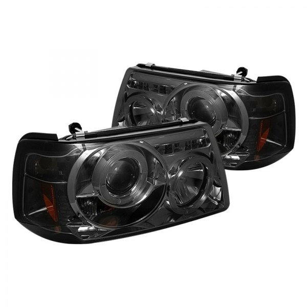 Ford Ranger Projector Headlights : Spyder ford ranger chrome smoke halo projector led