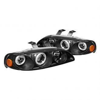 Spyder® - Black Halo Projector LED Headlights with Amber Reflectors