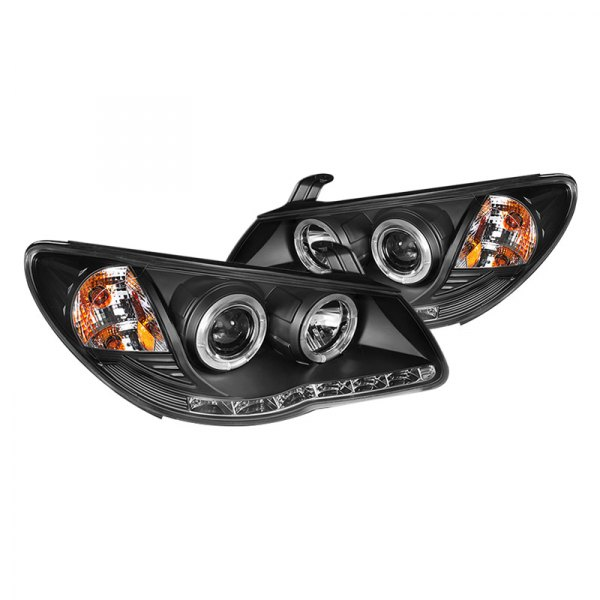 Spyder® - Black Halo Projector LED Headlights with DRL