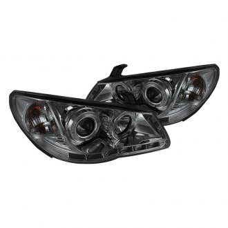 Spyder® - Chrome/Smoke Halo Projector LED Headlights with DRL