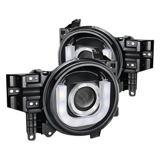 Spyder® - Black 3D U-Bar Projector LED Headlights