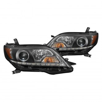 Spyder® - Black Projector Headlights with LED DRL