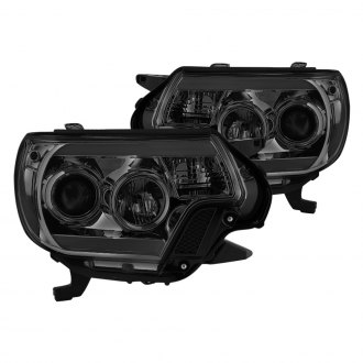 Spyder® - Chrome/Smoke U-Bar Projector LED Headlights