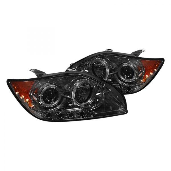 Scion Tc Headlights >> Spyder® - Scion tC 2005-2007 Chrome/Smoke Halo Projector LED Headlights
