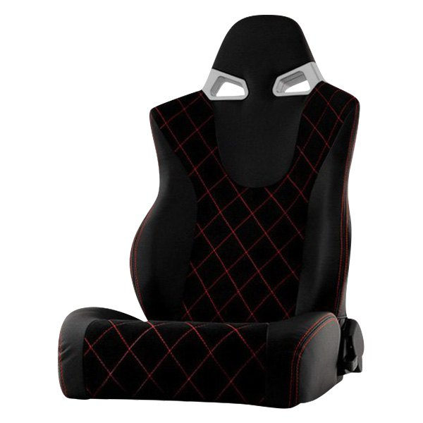 Spyder® - CG Series Driver Side Racing Seat, Black Leatherette