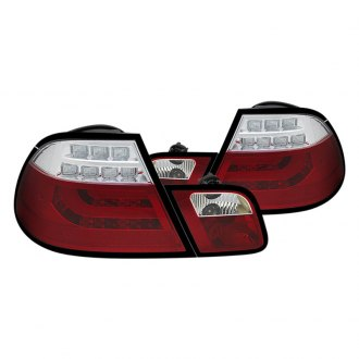 Spyder® - Red/Clear Light Bar Style LED Tail Lights