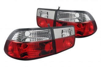 Spyder® - Red/Clear Euro Tail Lights
