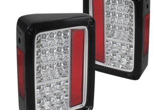 Spyder® - Red/Clear LED Tail Lights with Chrome Insert