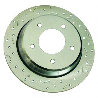 SSBC® - Big Bite Cross Drilled and Slotted 1-Piece Front Brake Rotor