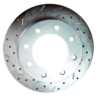 SSBC® - Big Bite Cross Drilled and Slotted 1-Piece Rear Brake Rotor