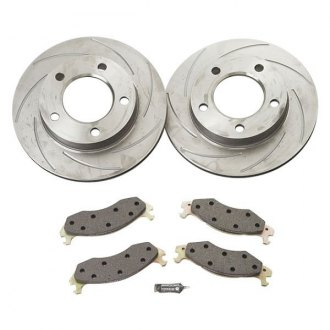 SSBC® - Turbo Slotted Rotor and Front Brake Pad Short Stop Kit
