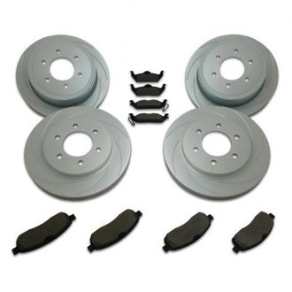 SSBC® - Turbo Slotted Rotor and Brake Pad Short Stop Kit