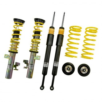 "ST Suspensions® - 0.8-1.6"" x 1.2-1.8"" Front and Rear ST X Height Adjustable Lowering Coilover Kit"