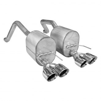 Stainless Works® - 304 SS Turbo Chambered Dual Axle-Back Exhaust System with Quad Tips