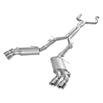 Stainless Works® - 304 SS Turbo S-Tube Dual Cat-Back Exhaust System with Quad Rear Exit