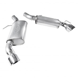 Stainless Works® - 304 SS Turbo S-Tube Dual Axle-Back Exhaust System with Split Rear Exit
