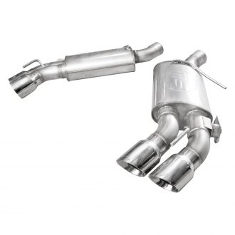 Stainless Works® - 304 SS Turbo S-Tube Dual Axle-Back Exhaust System with Quad Rear Exit
