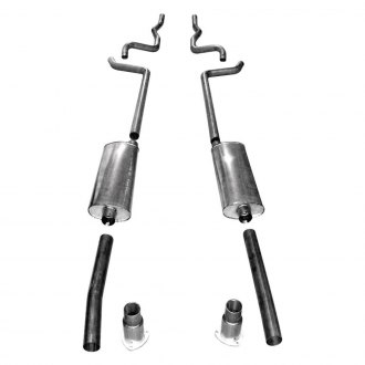 Stainless Works® - 304 SS Turbo Chambered Dual Header-Back Exhaust System with Split Rear Exit