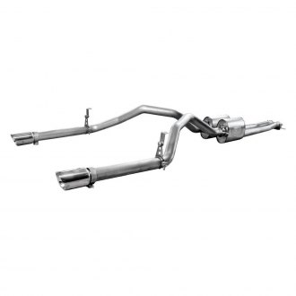 Stainless Works® - 304 SS Turbo Chambered Header-Back Exhaust System with Split Rear Exit