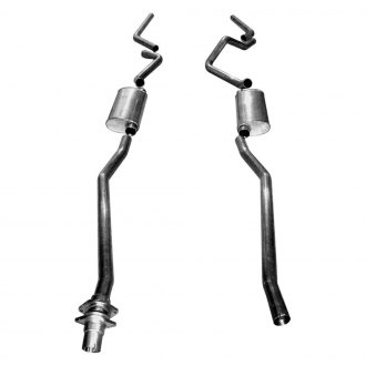 Stainless Works® - 304 SS Dual Cat-Back Exhaust System with Split Rear Exit