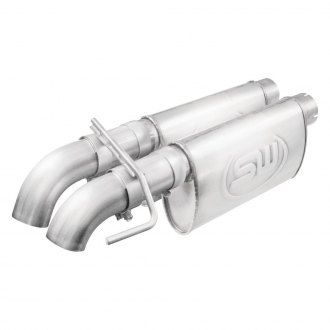 Stainless Works® - 304 SS Turbo Chambered Header-Back Exhaust System with Dual Rear Exit