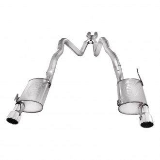 Stainless Works® - 304 SS Cat-Back Exhaust System with Split Rear Exit